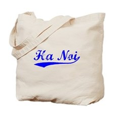 Vintage Ha Noi (Blue) Tote Bag