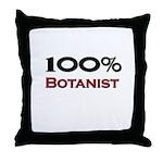 100 Percent Botanist Throw Pillow