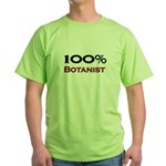 100 Percent Botanist Green T-Shirt
