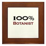 100 Percent Botanist Framed Tile