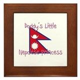 Daddy's little Nepalese Princess Framed Tile