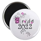 "Flowers and Butterflies Bride 12 2.25"" Magnet (100"