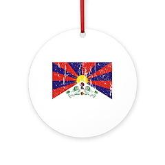 Tibetan Flag Ornament (Round)