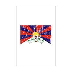 Tibetan Flag Mini Poster Print