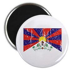 """Tibetan Flag 2.25"""" Magnet (10 pack)"""