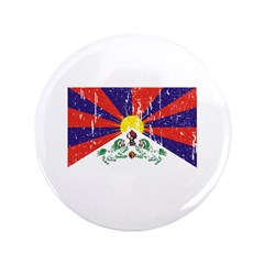 "Tibetan Flag 3.5"" Button"