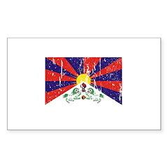 Tibetan Flag Rectangle Sticker