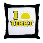 I Love Tibet Throw Pillow