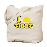 I Love Tibet Tote Bag