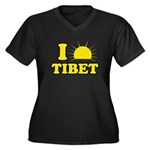 I Love Tibet Women's Plus Size V-Neck Dark T-Shirt