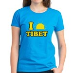 I Love Tibet Women's Dark T-Shirt