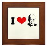 I Heart The Dalai Lama Framed Tile