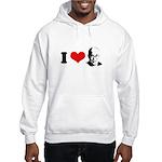 I Heart The Dalai Lama Hooded Sweatshirt