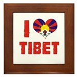 I Love Tibet Framed Tile