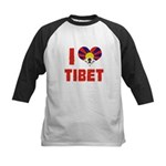 I Love Tibet Kids Baseball Jersey