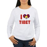 I Love Tibet Women's Long Sleeve T-Shirt