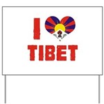I Love Tibet Yard Sign