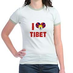 I Love Tibet Jr. Ringer T-Shirt