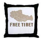 Free Tibet Throw Pillow