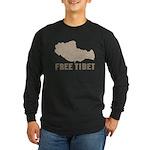 Free Tibet Long Sleeve Dark T-Shirt