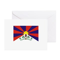 Flag of Tibet Greeting Cards (Pk of 20)