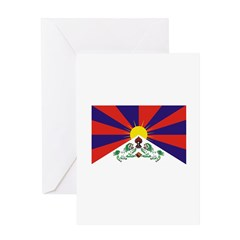 Flag of Tibet Greeting Card