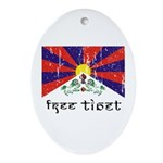 Free Tibet Oval Ornament