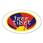 Free Tibet Oval Sticker (10 pk)