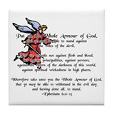 Whole Armour of God Tile Coaster