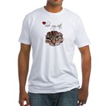 LOVE MY CATS Fitted T-Shirt