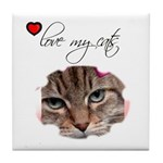 LOVE MY CATS Tile Coaster