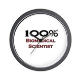 100 Percent Biomedical Scientist Wall Clock