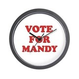 Vote for MANDY Wall Clock