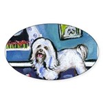 HAVANESE unique Designs Oval Sticker