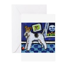 WIRE HAIRED FOX TERRIER art Greeting Cards (Packag