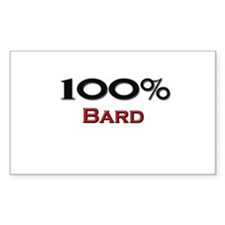 100 Percent Bard Rectangle Decal