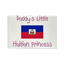 Daddy's little Haitian Princess Rectangle Magnet (
