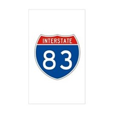 Interstate 83, USA Rectangle Decal