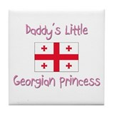 Daddy's little Georgian Princess Tile Coaster
