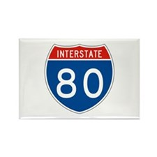 Interstate 80, USA Rectangle Magnet
