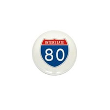 Interstate 80, USA Mini Button (10 pack)