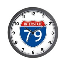 Interstate 79, USA Wall Clock