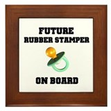Future Rubber Stamper on Boar Framed Tile