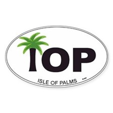 Isle of Palms Oval Decal