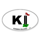 Kiawah Island Oval Oval Sticker (50 pk)