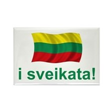 Lithuanian i sveikata! Rectangle Magnet