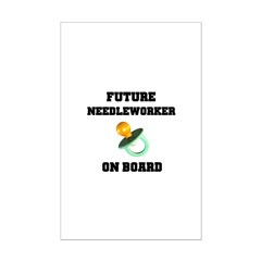 Future Needleworker on Board - Maternity Posters