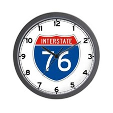 Interstate 76, USA Wall Clock