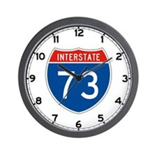Interstate 73, USA Wall Clock
