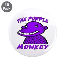 "The Purple Monkey 3.5"" Button (10 pack)"